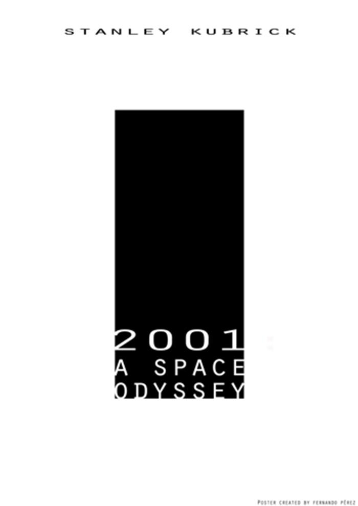 Póster Fan Art de la película 2001: Una odisea en el espacio