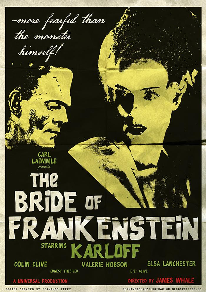 Póster Fan Art de la pelicula La novia de Frankenstein
