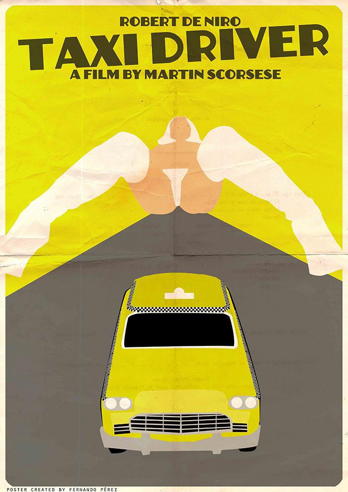 Póster Fan Art de la película Taxi Driver