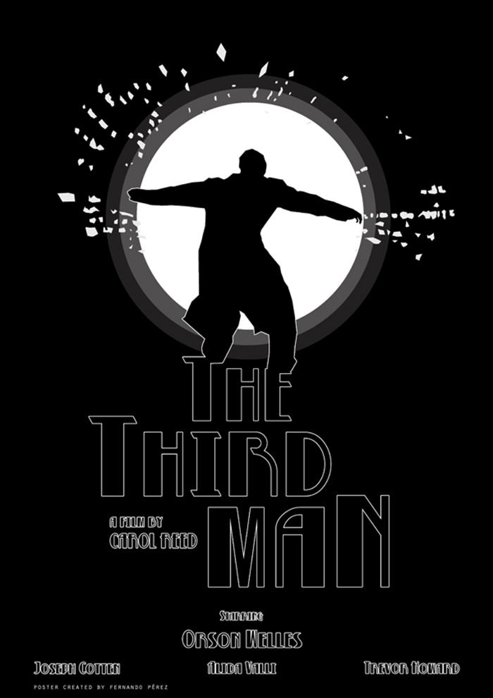 Póster Fan Art de la película El tercer hombre (The third man)