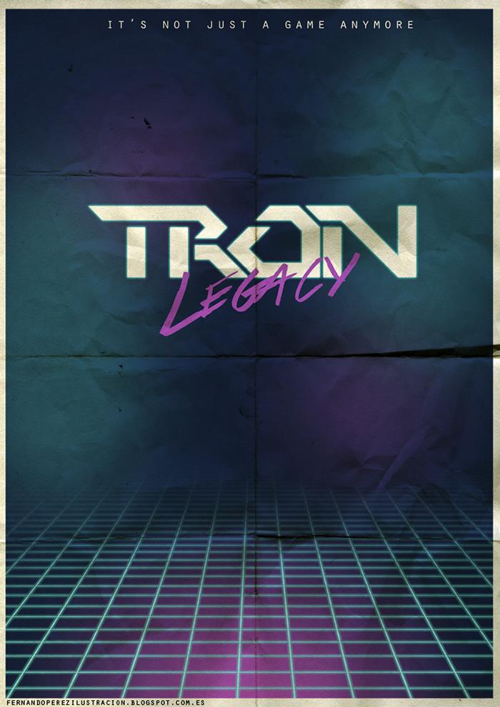 Póster Fan Art de la película Tron Legacy