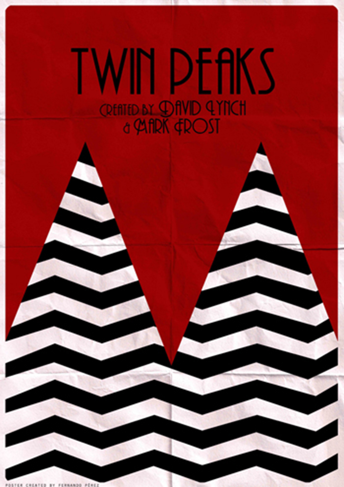 Póster Fan Art de la serie de televisión Twin Peaks