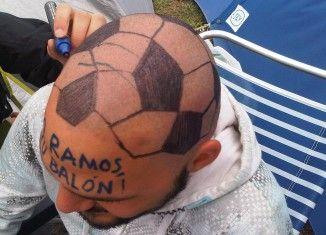 El balón de Sergio Ramos