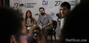 Michelle Jenner y Nacho Vigalondo en Cinema Jove 2012