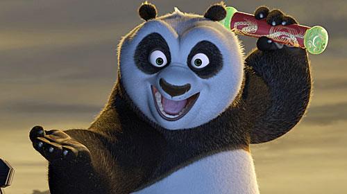 Kung fu pada peli de animación con Jack Black (Aqui Florentino Fernandez) y Angelina Jolie