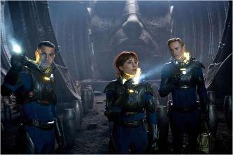 Algunos de los personajes del film Prometheus