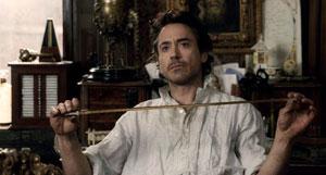 Robert Downey Jr haciendo de Sherlock Holmes en la pelicula de Guy Ritchie