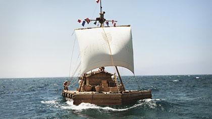 Barca de la expedición Kon-Tiki