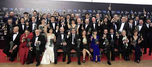 Los galardonados en los Goya 2014