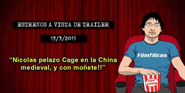 Estrenos de cine (13/03/2015)