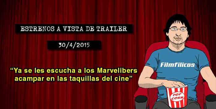 Estrenos de cine (30/04/2015)