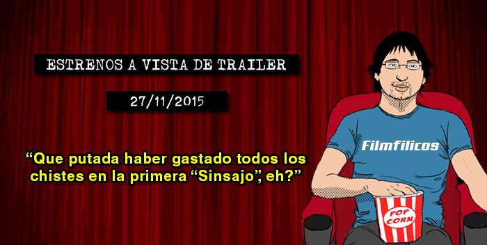 Estrenos de cine (27/11/2015)
