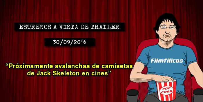 Estrenos de cine (30/09/2016)