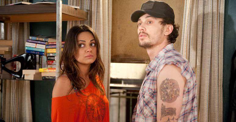 Mila Kunis y James Franco en Noche loca