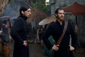 "Adam Drive, left, as Father Garupe and Andrew Garfield as Father Sebastião Rodrigues, film the movie ""Silence"" by Paramount Pictures, SharpSword Films, and AI Films. MUST CREDIT: Paramount Pictures photo by Kerry Brown"