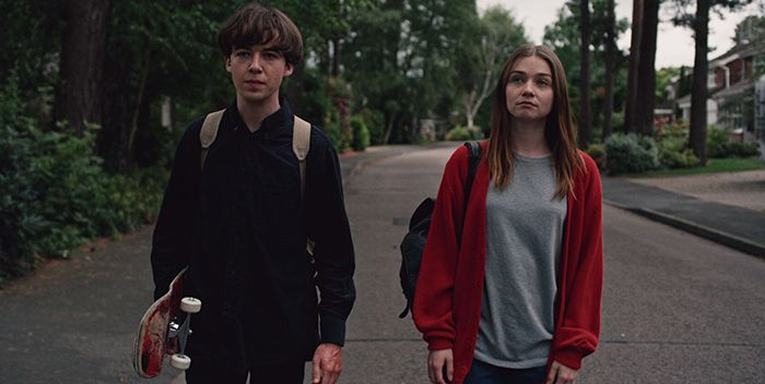 Alex Lawther y Jessica Barden en The End of the F***ing World
