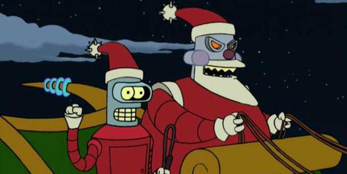 Especiales navideños animados - Futurama