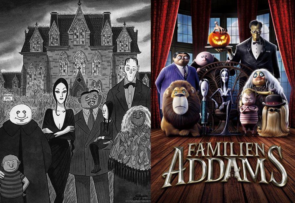 Familia Addmas, comparación.