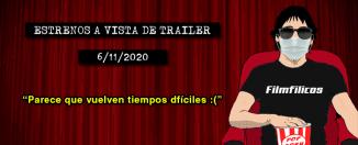 Estrenos de cine (6/11/2020)