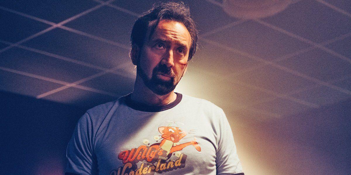 Nicolas Cage en Willys Wonderland, 2021. Filmfilicos blog de cine
